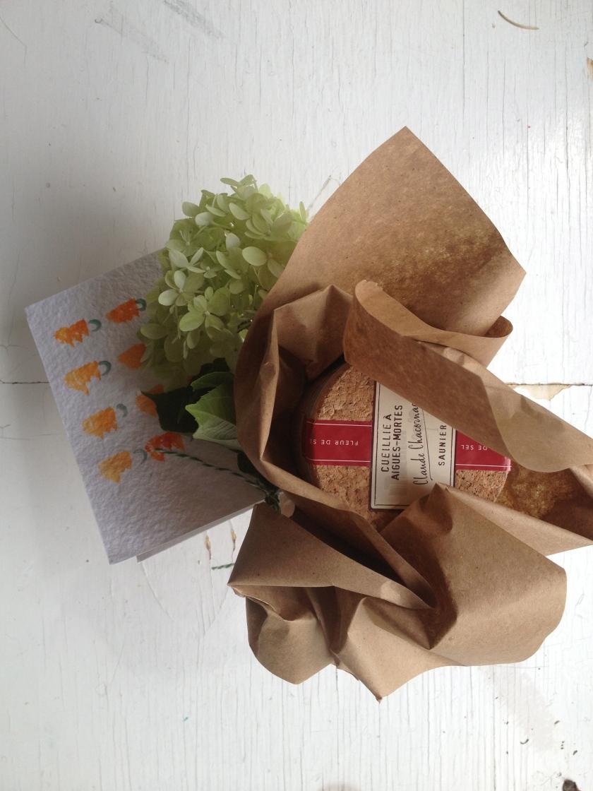 Kraft and watercolor packaging