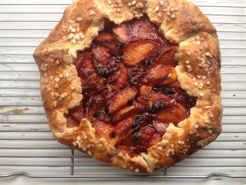 baked peach galette